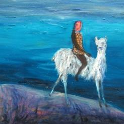 Erakoitunut, oil on canvas, 70x90 cm, 2017