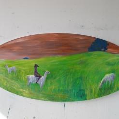 Uninvited, oil on canvas, 80x180 cm, 2017