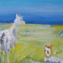 Laamatar, oil on canvas, 20x30 cm