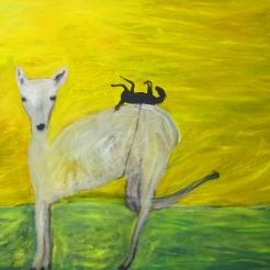 Musta hevonen, oil on canvas, 110x180 cm, 2017