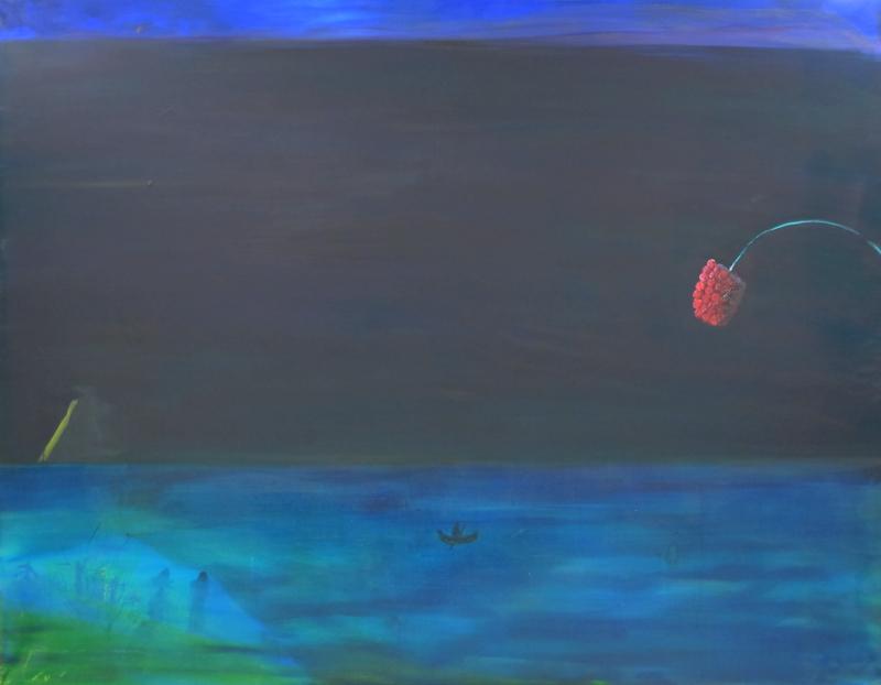 Exotic landscape, oil on canvas, 140x180 cm
