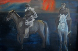 Salakuljettajat, 140x210cm, oil on canvas, 2014