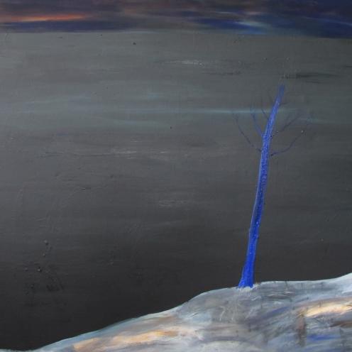 Blue tree, 140x210 cm, oil on canvas, 2015