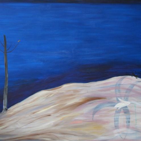 Desert island, oil on canvas, 2015