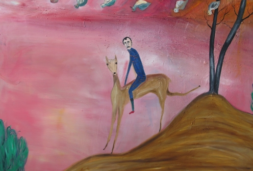 Lucy in the Sky with Diamonds, 110x160 cm, oil on canvas, 2015